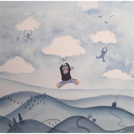 Marjoline Fleur Camille dans les nuages 36 x 36 cm
