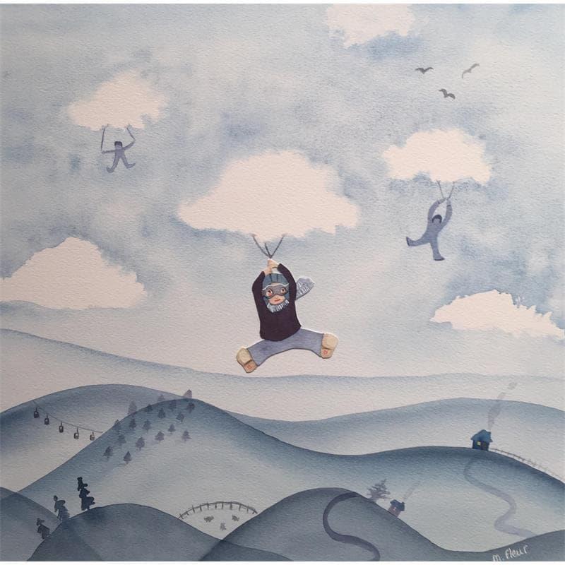 Camille dans les nuages
