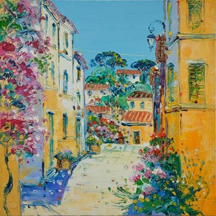 Liisa Corbière Village fleuri 25 x 25 cm