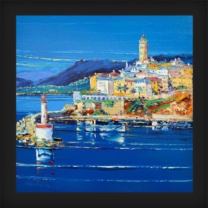 Liisa Corbière L'heure bleue à Bastia Corse 36 x 36 cm
