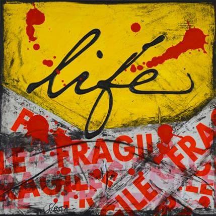 Sophie Costa Fragile life 25 x 25 cm