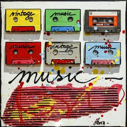 Sophie Costa Music tape 36 x 36 cm