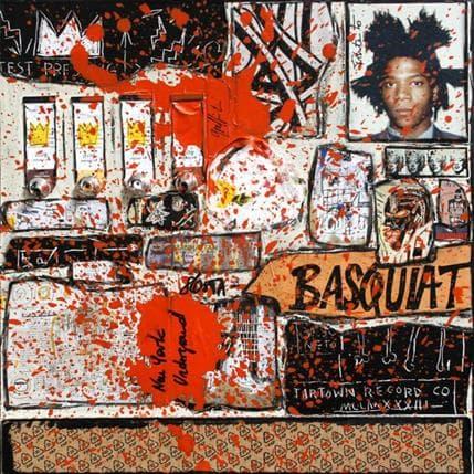 Sophie Costa Tribute to Basquiat 36 x 36 cm