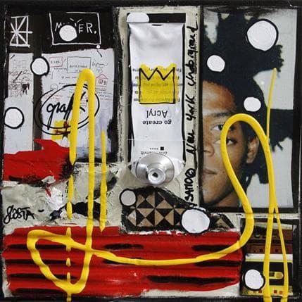 Sophie Costa Tribute to basquiat 13 x 13 cm