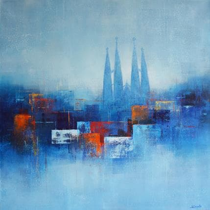 Steffi Coupette Afternoon shadows of Barcelone 80 x 80 cm