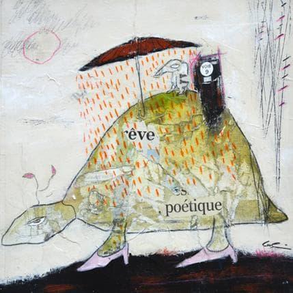 Sylvie Colin Ailleurs rêve poétique 25 x 25 cm