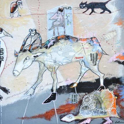 Sylvie Colin Couronnement d'un chien pour les territoires libres 36 x 36 cm