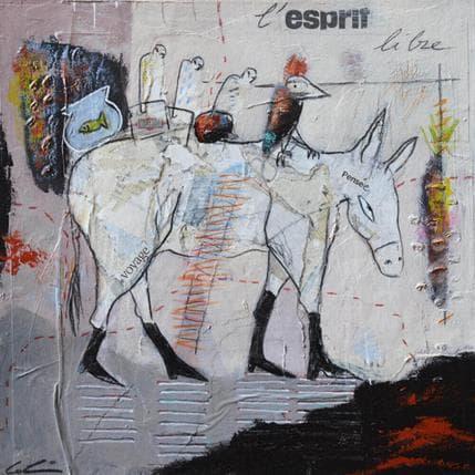 Sylvie Colin L'esprit libre 25 x 25 cm