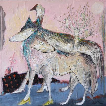 Sylvie Colin Pleine lune 50 x 50 cm