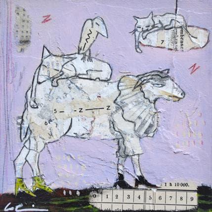 Sylvie Colin Compter les moutons 13 x 13 cm