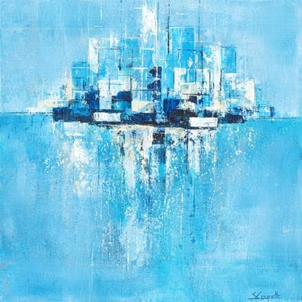 Steffi Coupette Blue skyline 36 x 36 cm