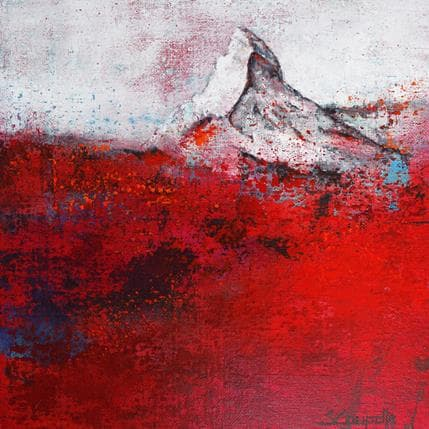 Steffi Coupette Red surface 25 x 25 cm