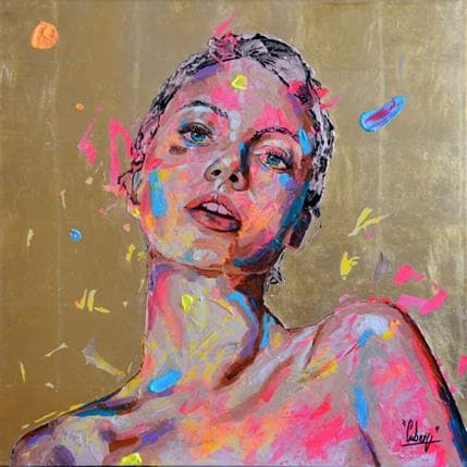 Nathalie Cubero Gold 80 x 80 cm