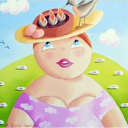 Elisabeth Davy - Bouttier Chapeau oiseaux 13 x 13 cm