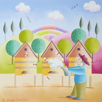 Elisabeth Davy - Bouttier Les ruches 19 x 19 cm