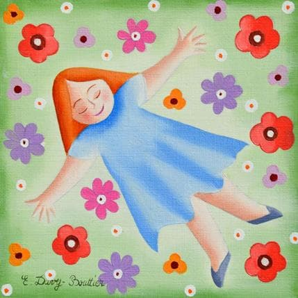 Davy Bouttier Elisabeth Bain de fleurs 13 x 13 cm