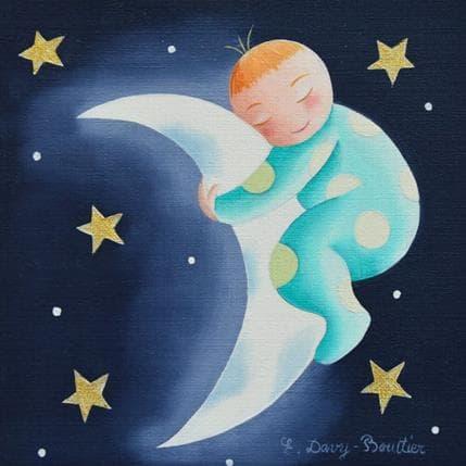 Elisabeth Davy - Bouttier Bébé lune 13 x 13 cm