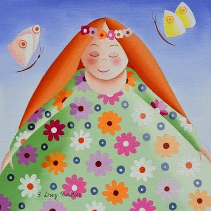 Elisabeth Davy - Bouttier Robe de printemps 19 x 19 cm