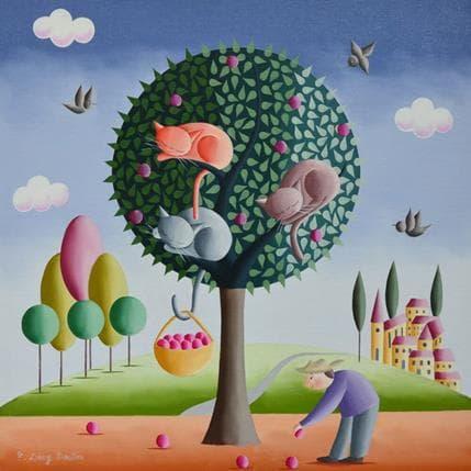 Elisabeth Davy - Bouttier La cueillette 36 x 36 cm