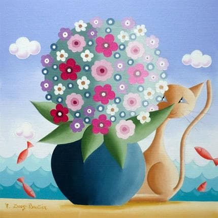 Elisabeth Davy - Bouttier Bouquet de printemps 25 x 25 cm