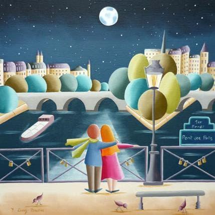 Elisabeth Davy - Bouttier Le Pont des Arts 36 x 36 cm