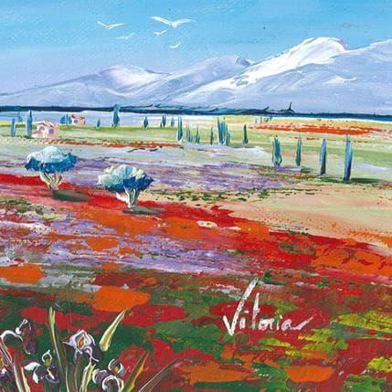 Vitoria Iris et coquelicots 13 x 13 cm
