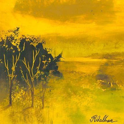 Rose Dalban Jaune soleil 13 x 13 cm