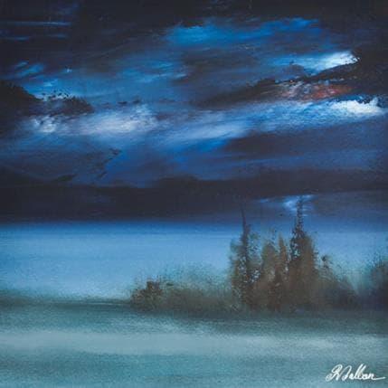 Rose Dalban Grand bleu 25 x 25 cm