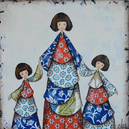 Delphine Blais Anouchka et ses filles 19 x 19 cm