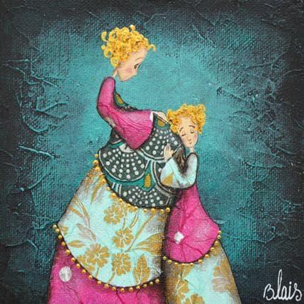 Delphine Blais Edith et Ninon 13 x 13 cm