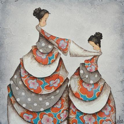 Delphine Blais Anouk et Josepha 25 x 25 cm