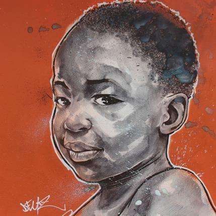Deuz Enfant d'afrique 36 x 36 cm