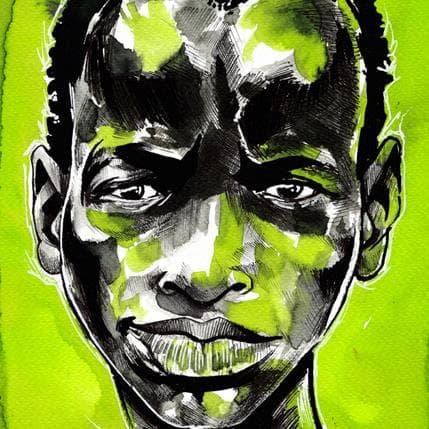 Deuz Green background 19 x 19 cm