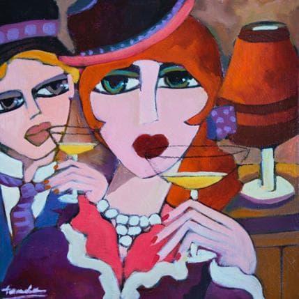Fauve Femme au chapeau 25 x 25 cm