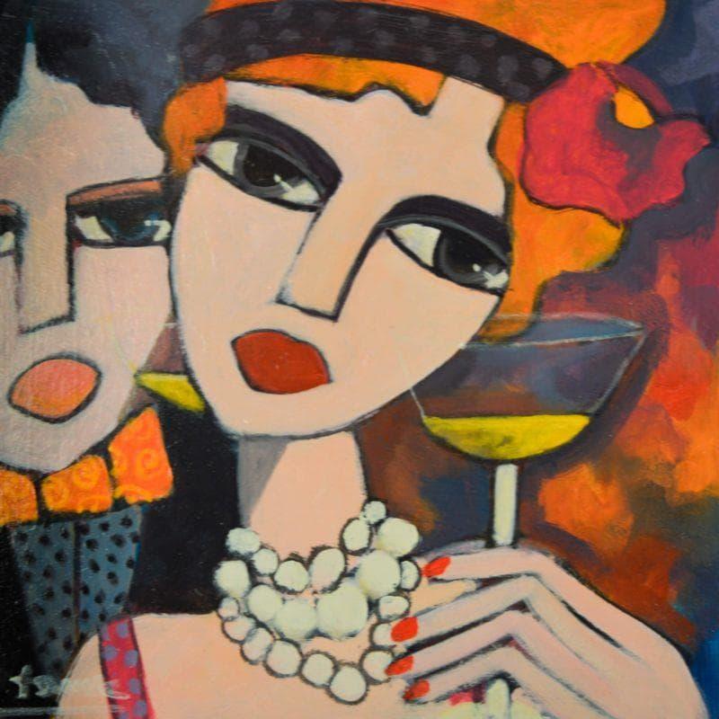 Le couple à la coupe de champagne