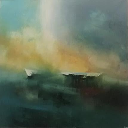 Jonas Lundh Morning light 80 x 80 cm