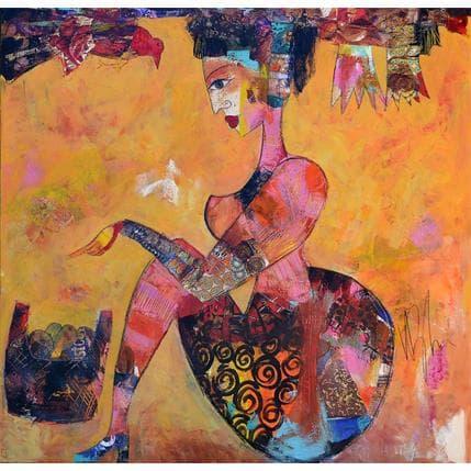 Valérie Depadova La gardienne des oiseaux 100 x 100 cm