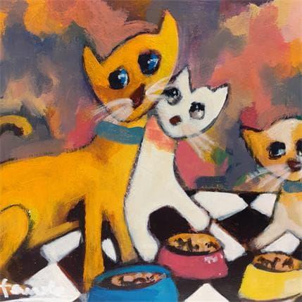 Fauve Les chats 13 x 13 cm