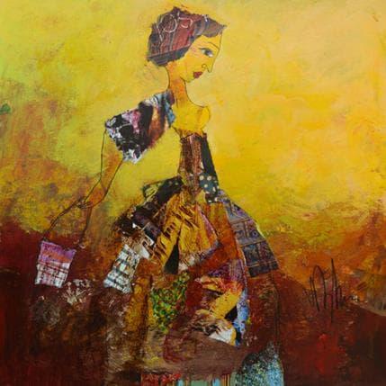 Valérie Depadova Femme au sac 36 x 36 cm