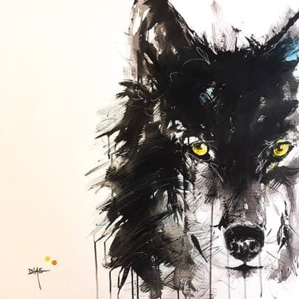 DIAS Le loup 80 x 80 cm