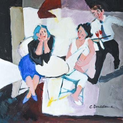 Christine Doucedame Le serveur qui court 25 x 25 cm