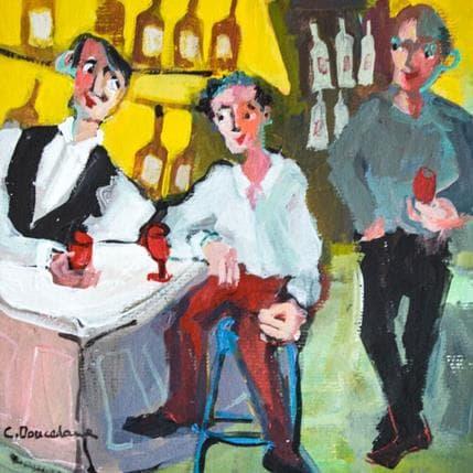 Christine Doucedame Pilier de bar 19 x 19 cm