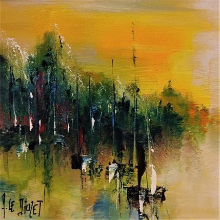 Albert Le Diuzet L'étang 13 x 13 cm