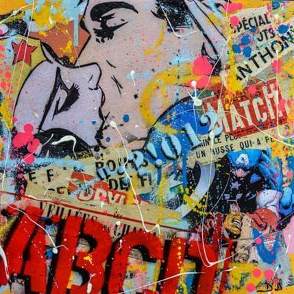 David Drioton Le baiser 36 x 36 cm
