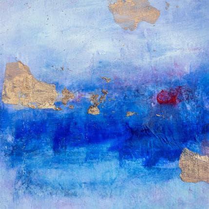 Ode Droit Point rouge sur bleu profond 13 x 13 cm