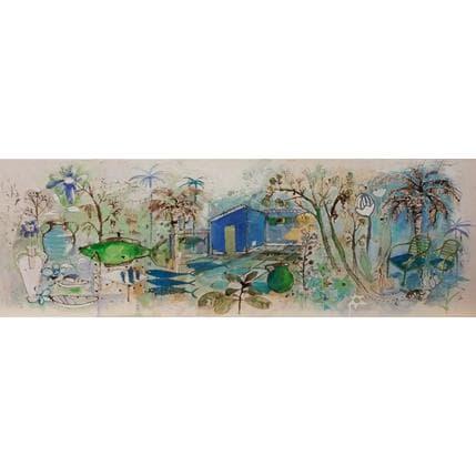 Cécile Colombo La cabane bleue 120 x 40 cm