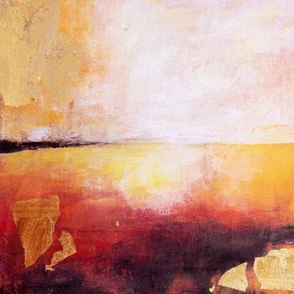 Ode Droit Quand le soleil enflamme l'océan 19 x 19 cm