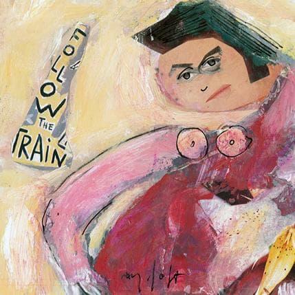 Miguel De Sousa The train 13 x 13 cm
