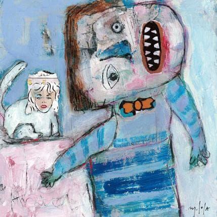 Miguel De Sousa Drôle de chat 25 x 25 cm