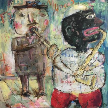 Miguel De Sousa Os músicos 80 x 80 cm